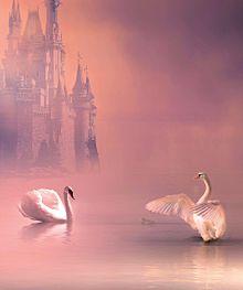 お城と白鳥のペア🦢🦢の画像(ダンスに関連した画像)