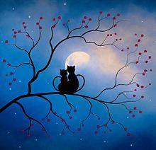 月明かりの ふたりの画像(ペアに関連した画像)