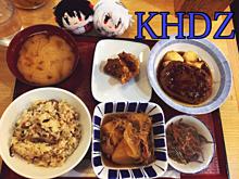 晩御飯(昨日)← プリ画像