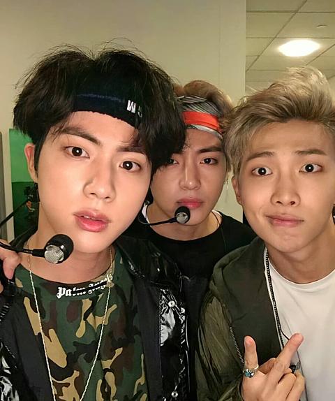 BTS RM&JIN&Vの画像(プリ画像)