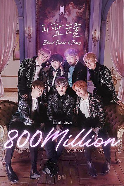 BTS 血、汗、涙 MV8億回再生おめでとう!!の画像(プリ画像)