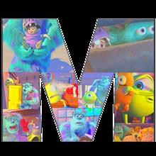 """M"" Monsters Inc /Universityの画像(ディズニー/disneyに関連した画像)"