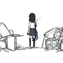 壊していくの画像(素材/女の子/制服/イラストに関連した画像)