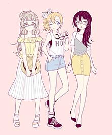 かわいい イラスト 女の子 洋服の画像29点完全無料画像検索のプリ画像