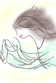 女の人 プリ画像