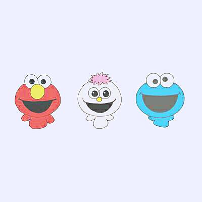 エルモ&モッピー&クッキーモンスターの画像(プリ画像)