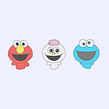 エルモ&モッピー&クッキーモンスター