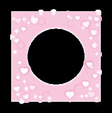 ピンクハートフレームの画像(ハート 背景に関連した画像)