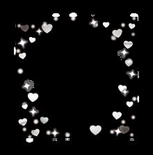 黒ハートフレームの画像(ハート 背景に関連した画像)