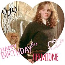 Happy Birthday Hermione💕の画像(プリ画像)