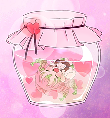甘露寺蜜璃ちゃん 瓶の中  可愛いの画像(甘露寺蜜璃に関連した画像)