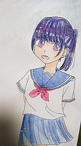 水彩の女の子の画像(水彩に関連した画像)