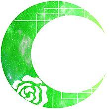 月加工 薔薇 緑の画像(プリ画像)