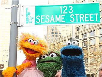 セサミストリートの街中
