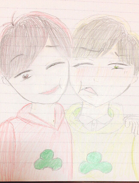 おそ松×チョロ松の画像(プリ画像)