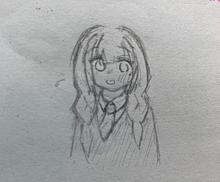三つ編みの女の子…を描いたつもり。 プリ画像