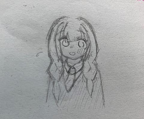 三つ編みの女の子…を描いたつもり。の画像(プリ画像)