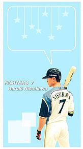 西川遥輝選手の画像(FIGHTERSに関連した画像)