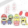 ミニオンズ ✕ マリオ ルイージ ピーチ姫キノピオ任天堂ゲーム プリ画像