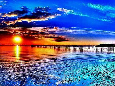 夕日 海の画像(プリ画像)