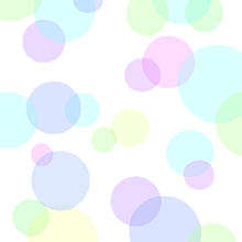 パステル水玉背景透過の画像(プリ画像)