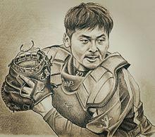 たくやの似顔絵~會澤翼選手の画像(カープに関連した画像)
