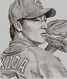 似顔絵~床田選手の画像(デッサンに関連した画像)