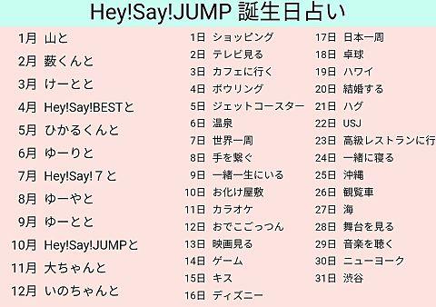 Hey! Say! JUMP 誕生日占いの画像 プリ画像