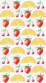 フルーツ 果物  柄 模様  パターンの画像(苺 壁紙に関連した画像)