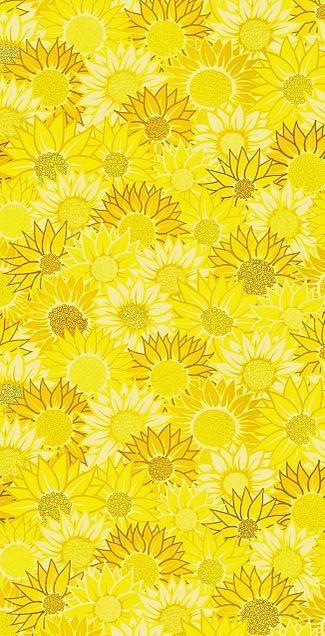 向日葵🌻  花柄 花模様  パターンの画像 プリ画像