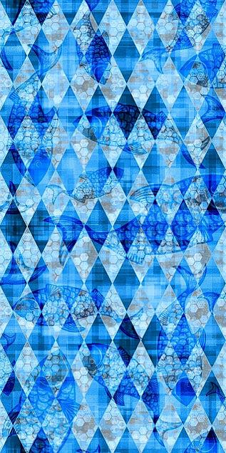 ダイヤ柄  ブルー  青  背景の画像(プリ画像)
