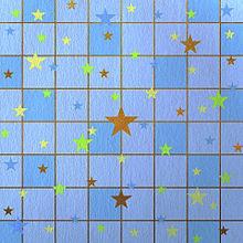 星柄  チェック  ブルー  雰囲気 プリ画像