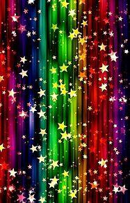 星  キラキラ  虹色  ネオンカラーの画像(ネオンカラーに関連した画像)