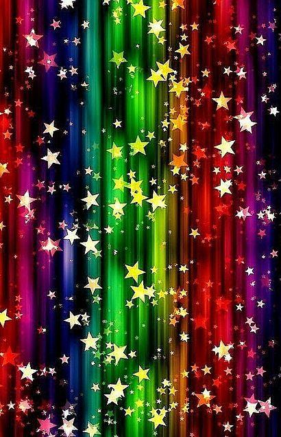 星  キラキラ  虹色  ネオンカラーの画像 プリ画像