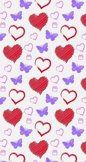 ハート柄  愛  心  バレンタインの画像 プリ画像