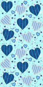 ハート柄  ブルーハーツ  青の画像(パターンに関連した画像)