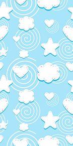 星  ハート  雲  夜空  星空 プリ画像