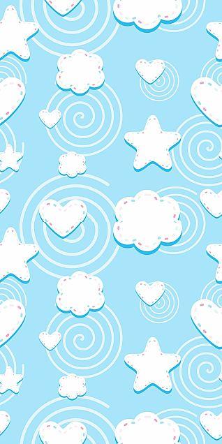 星  ハート  雲  夜空  星空の画像 プリ画像