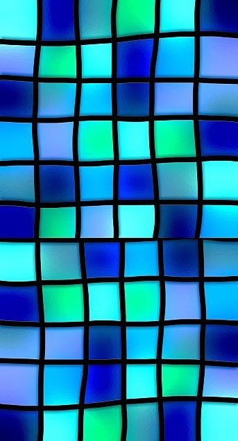 ステンドグラス  ブロックチェックの画像 プリ画像