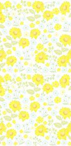 花柄  花模様  パステル  イエロー プリ画像