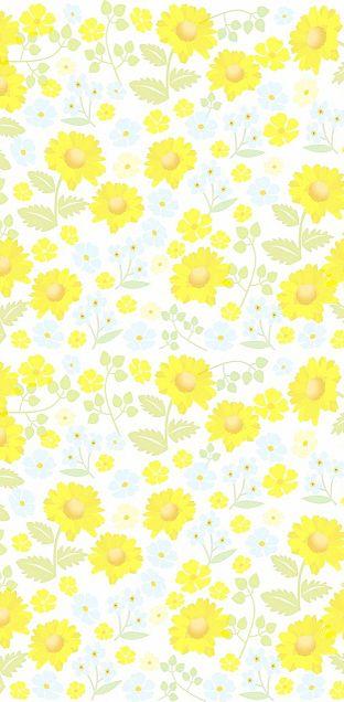 花柄  花模様  パステル  イエローの画像 プリ画像