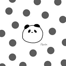 保存→いいね⸜❤︎⸝の画像(パンダ イラストに関連した画像)