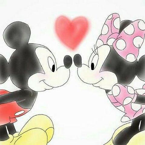 ミッキーとミニー    LOVE❤️の画像(プリ画像)