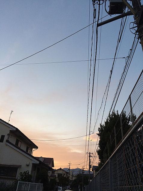 空、夕焼け、綺麗、空の画像(プリ画像)