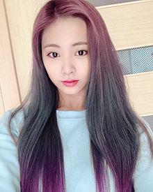 Twice Instagram 加工で髪色染めたツウィちゃん プリ画像