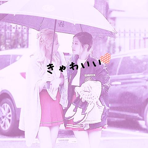 ダヒョン サナ、あいあい傘の画像(プリ画像)