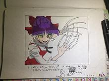 ねこ姉さん(色を塗ってみたよ!) プリ画像