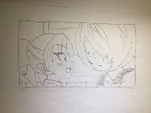 小さなねこ娘と鬼太郎 プリ画像