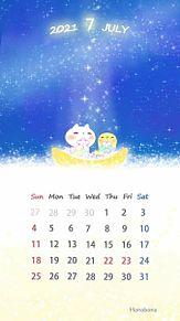 7月カレンダー プリ画像
