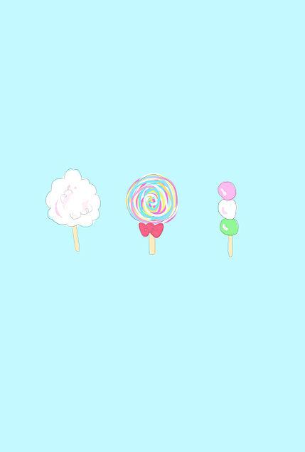綿菓子とキャンディーと三色団子の画像 プリ画像